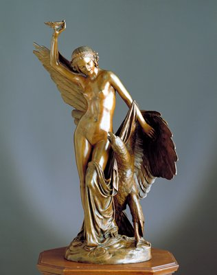 Light golden brown patination. After the monument in Dijon, France, commissioned 1852.