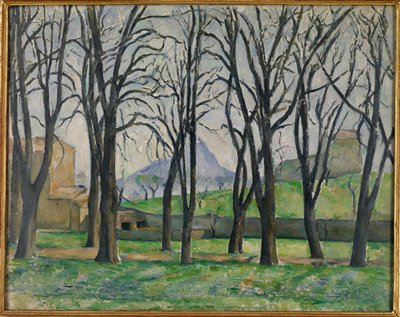 Landscape. Chestnut trees. Impressionism.