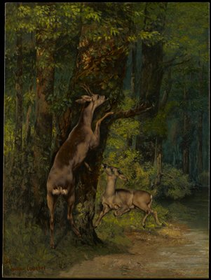 Landscape with deer