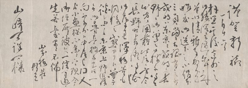 21 lines; authoritatively written, looping and angular characters; second line from end (signature) begins after large indentation, approx. halfway down sheet; first and last line have larger characters