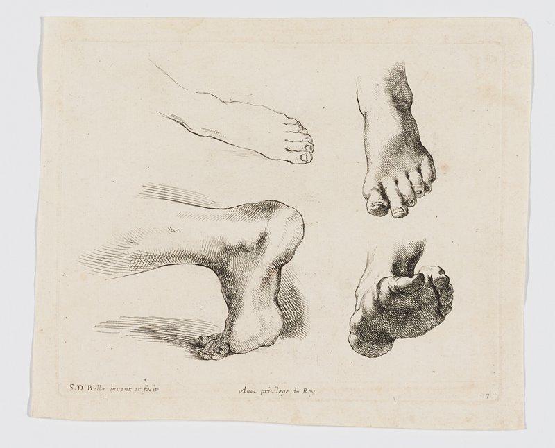 four studies of left feet