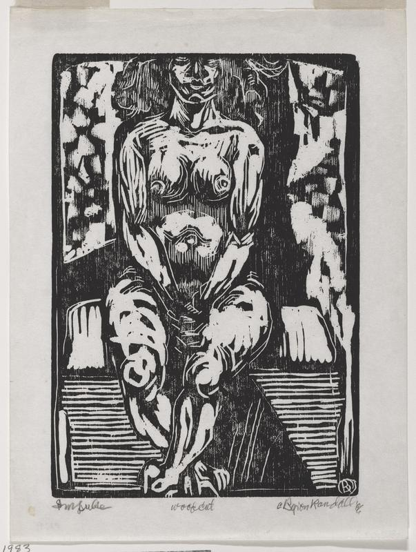 seated nude woman with her hands folded in her lap