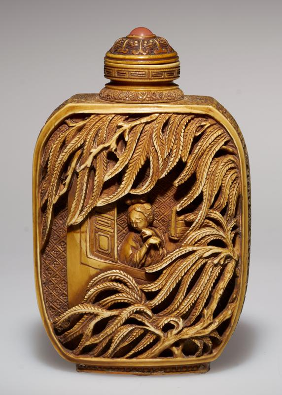 carved, colored with carnelian top; note the carving