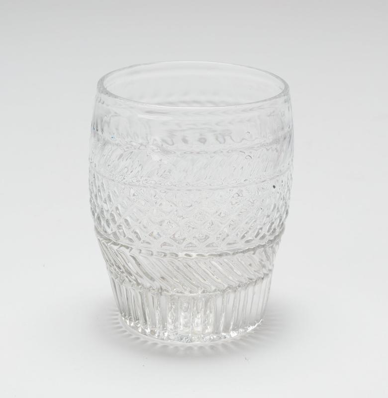 Water glass, barrel-shaped
