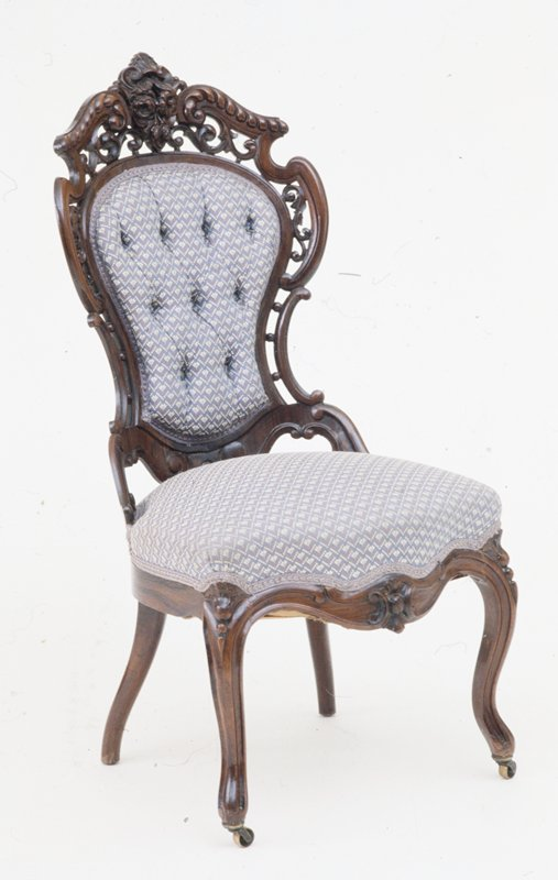 side chair, upholstery (Rococo revival style)