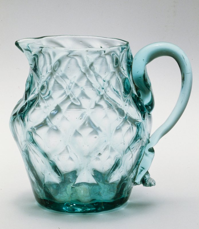 creamer, Midwestern, light green, 10 diamond, damaged; bottle and dishes from Ohio Manufacturers, 159 items in all, from the Walter Douglas Collection in Centerville, Ohio