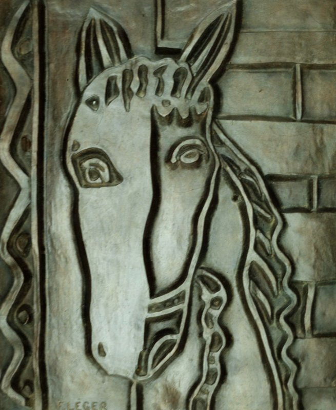 The relief shows a representation of a horse's head.