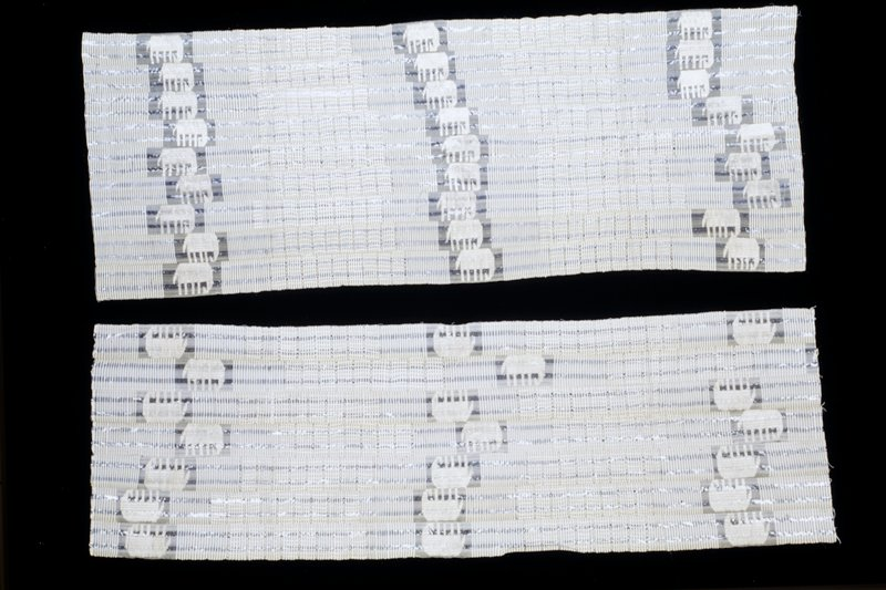 strip woven, with supplementary weft patterning
