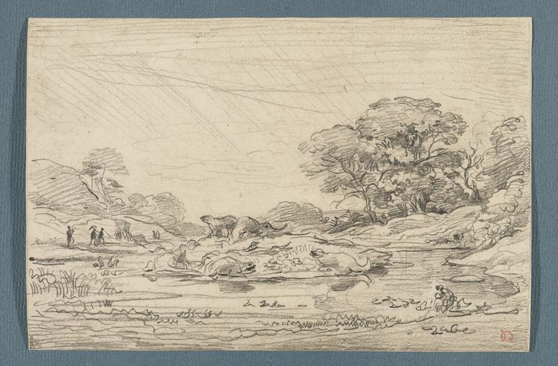 Preparatory study for an illustration in Arthur Mangin, Les Jardins, Tours, 1867