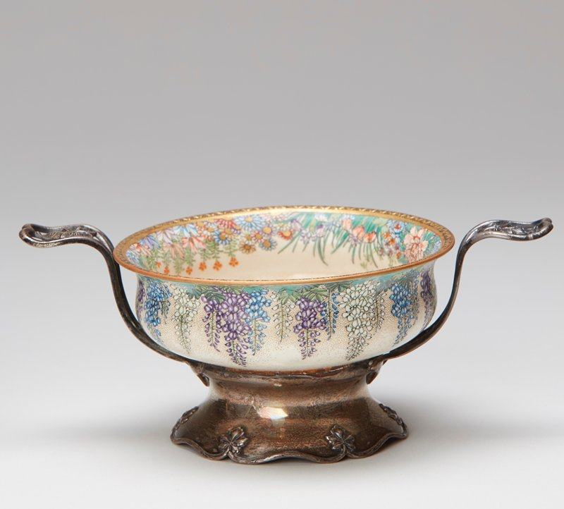 floral and butterfly; Shreve and Co. sterling silver bases and handles