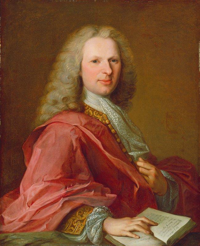 Three quarter length portrait of a man Portrait of Michel de Launey des Isles