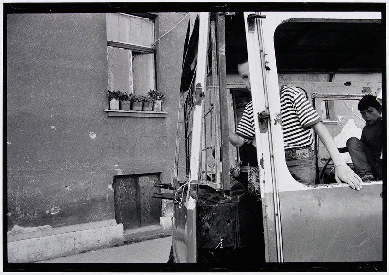 boy at door of bus