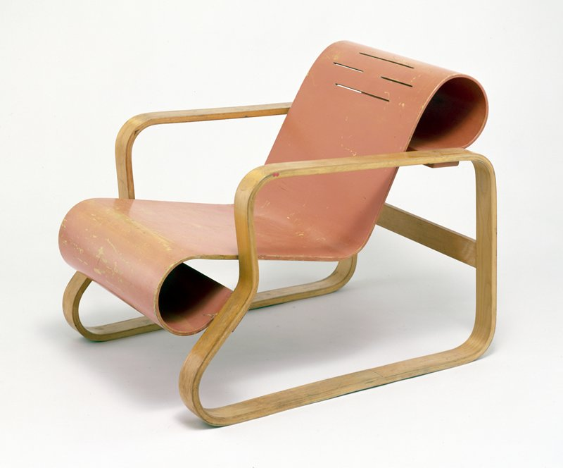 armchair, bent plywood