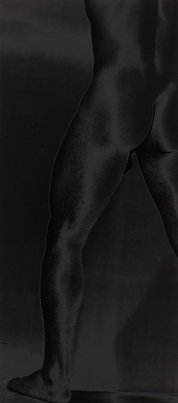 lower back, buttocks and PL leg of nude male figure