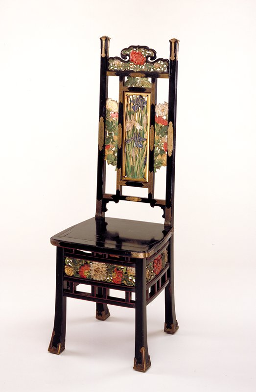 Side Panel to chair received from vendor after accessioning has been placed with the chair - conservation?
