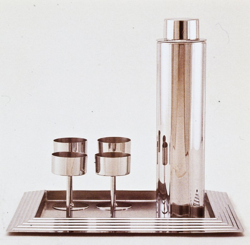 plain column-shaped shaker with matching lid