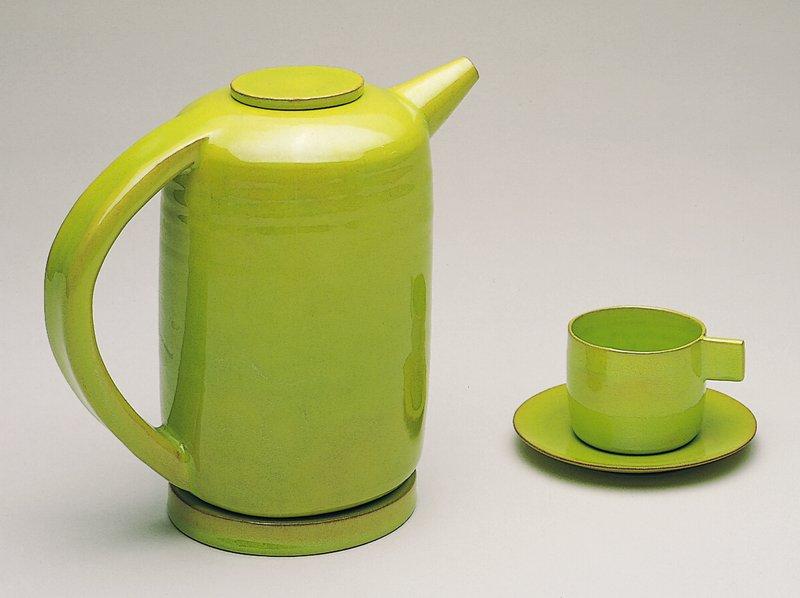 chartreuse glaze 29918; modernistic form