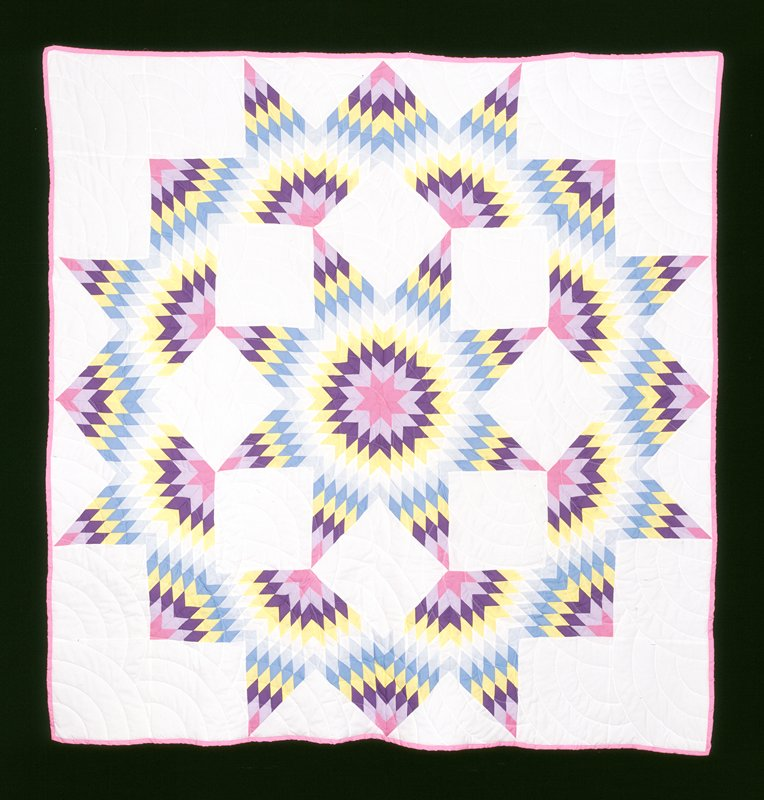 Broken star pattern quilt