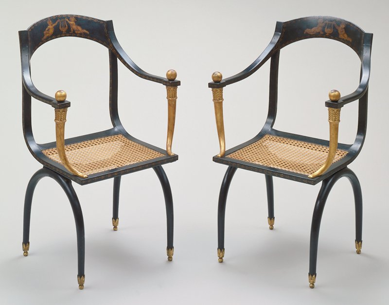 Pair of armchairs in the Etruscan style