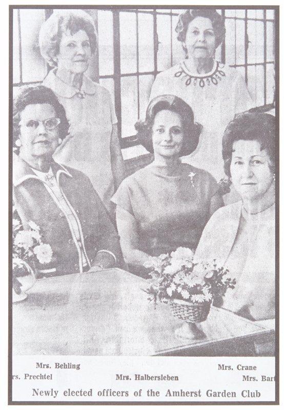 newspaper photograph of five women