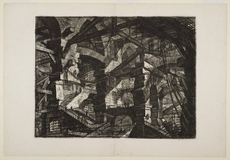 "Plate 14 from ""Carceri d'Invenzioni."" One of a set of 16 prints of imaginary prisons."