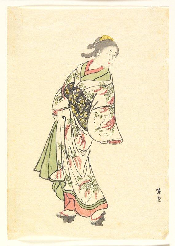 drawing copy of Sukenobu's print(P.13,960)