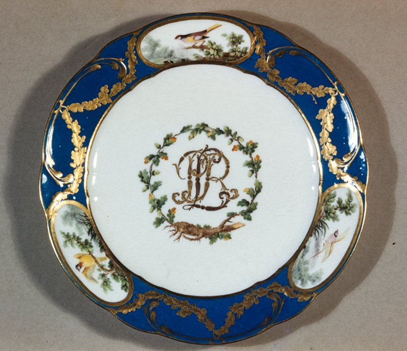 Dinner plate from the Rohan service 1771 & Dinner plate from the Rohan service Antoine-Joseph Chappuis ...