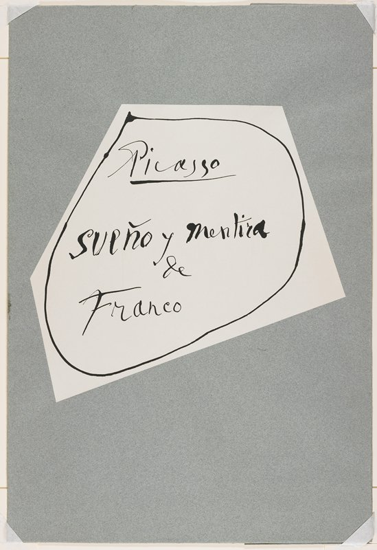 Blue-green paper album cover with printed paper title