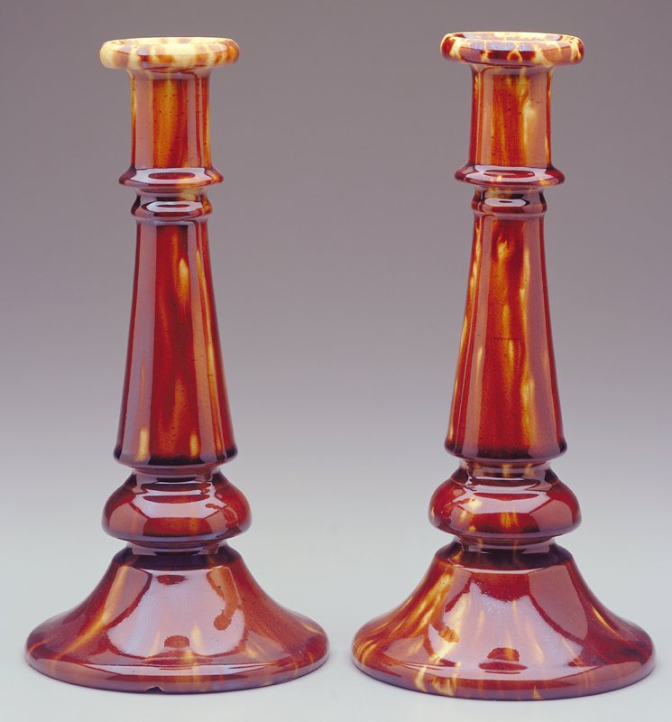 Extremely rare, baluster type, rich yellow brown glaze
