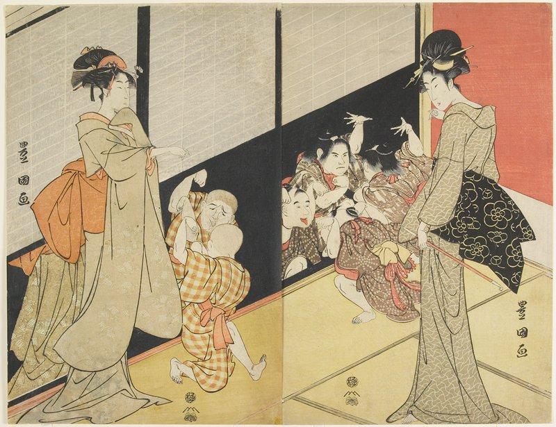 vertical ōban diptych