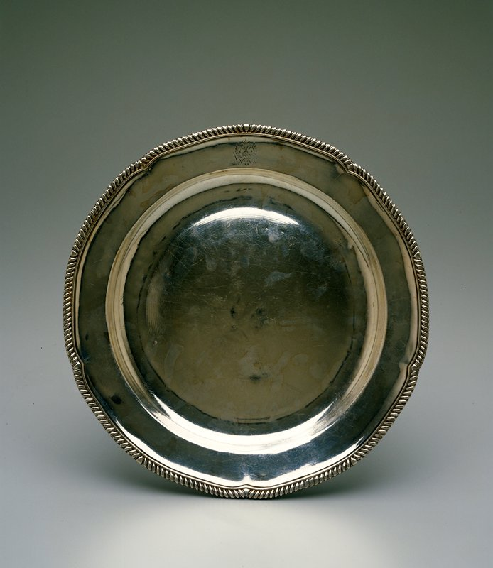 sterling silver dinner plate from the Tula Service; originally belonging to the Governors of Tula