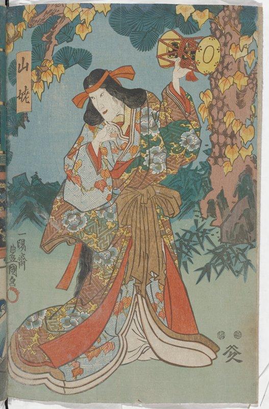 right sheet of a vertical ōban diptych