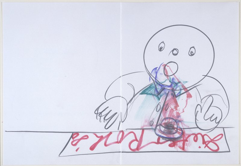 """""""Speedy Drawing"""" from the artist's book """"Books and Graphics, Part One """""""