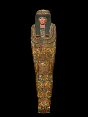X-ray of Lady Tashat is at column in Paintings racks in MS