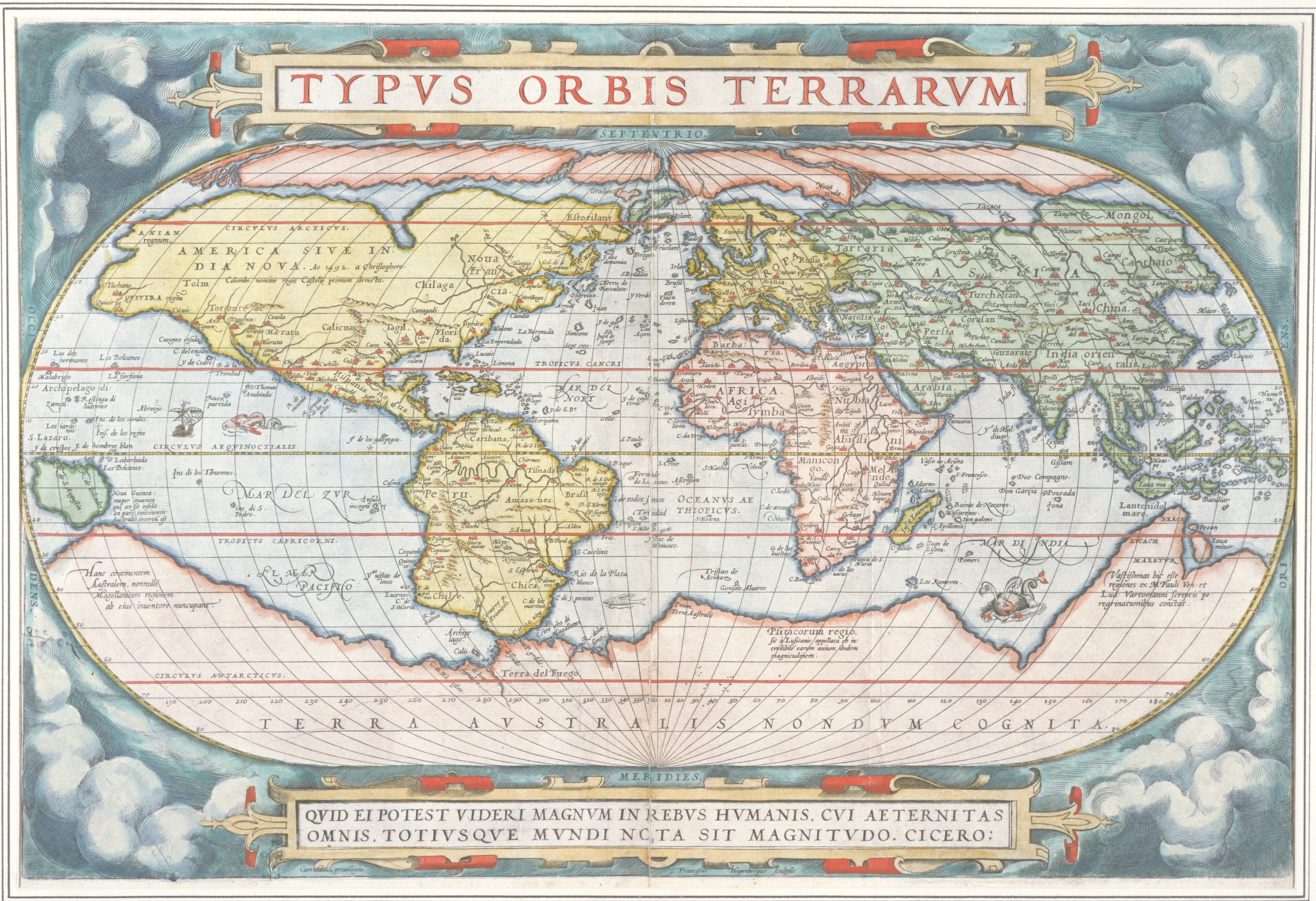 Whole Map Of The World.Map Of The World From Theatrum Orbis Terrarum Theater Of The